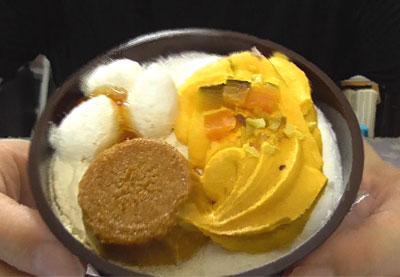 秋のかぼちゃパフェ マロンムースとかぼちゃプリン(ドンレミー)2