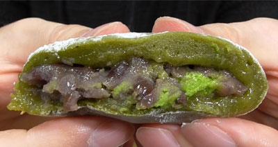 北海道産ゆめむらさき小豆使用-純生抹茶クリーム大福つぶあん(ローソン)3