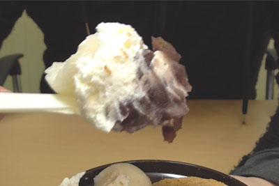 わらび餅&白玉くりぃむぜんざい(セブンイレブン)7