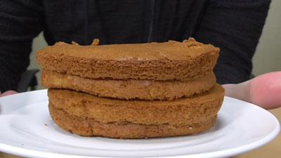 ブランのパンケーキ2個4枚~アガベシロップ入り~(ローソン)2