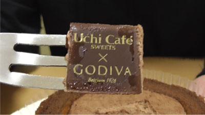 Uchi Cafe SWEETS×GODIVAゴディバショコラロールケーキ7