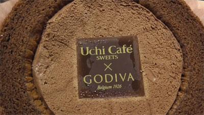 Uchi Cafe SWEETS×GODIVAゴディバショコラロールケーキ3