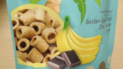 業務スーパー-ココナッツクリスプロール(チョコバナナ)2