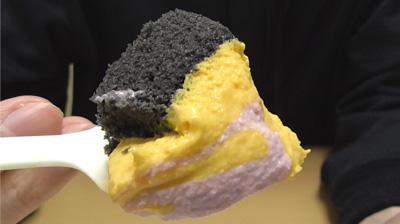 プレミアムかぼちゃ&紫芋のロールケーキ8