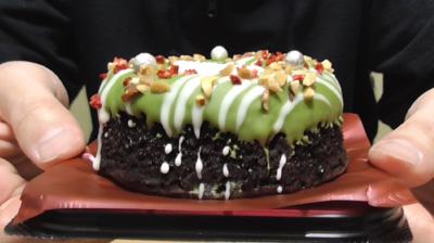 緑のクリスマスリースのケーキ(ローソン)2