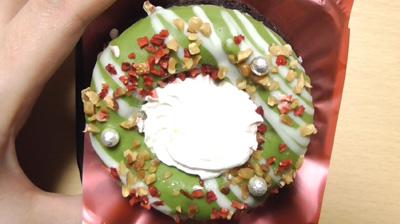 緑のクリスマスリースのケーキ(ローソン)4