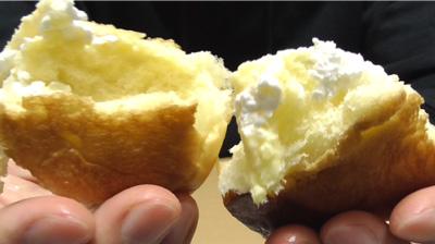 シュークリームみたいなパン9