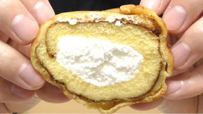 シューロールケーキ カルピスを使用したクリーム6
