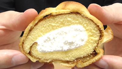 シューロールケーキ カルピスを使用したクリーム4