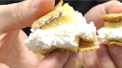 シューロールケーキ カルピスを使用したクリーム10