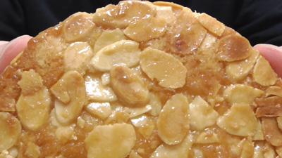 カリッと食感のアーモンドとしっとり生地のフロランタン風ケーキ6