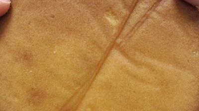 カリッと食感のアーモンドとしっとり生地のフロランタン風ケーキ8
