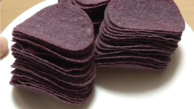 業務スーパー-紫芋ポテトチップス3