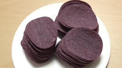 業務スーパー-紫芋ポテトチップス2
