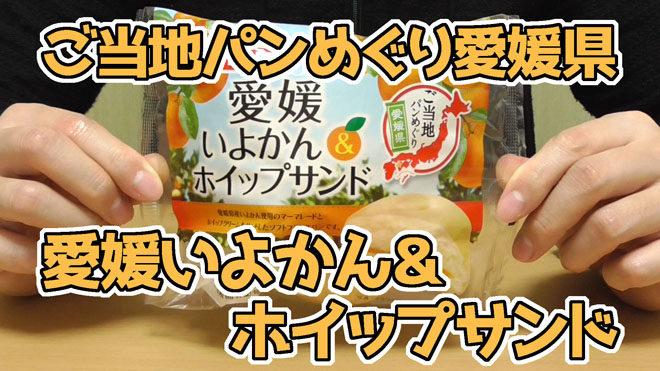 ご当地パンめぐり愛媛県-愛媛いよかん&ホイップサンド(フジパン)