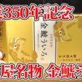 名古屋名物 金鯱ういろ(餅文総本店)、こしあん2個・しろあん2個入、創業350年記念で作られた商品
