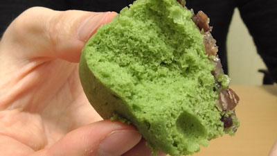 わらび餅風蒸しパン-よもぎ&小豆(パスコ)14
