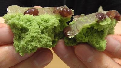 わらび餅風蒸しパン-よもぎ&小豆(パスコ)17