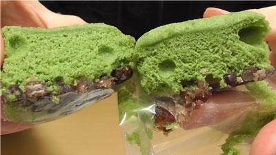 わらび餅風蒸しパン-よもぎ&小豆(パスコ)12