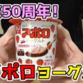 アポロヨーグルト(明治)、アポロチョコレート発売50周年記念!2層仕立てのヨーグルト!