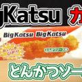 ビッグカツ BigKatsu とんかつソース味(菓道)、ソース・カレー粉、おいしいチキンエキス入り!懐かしさを感じる駄菓子